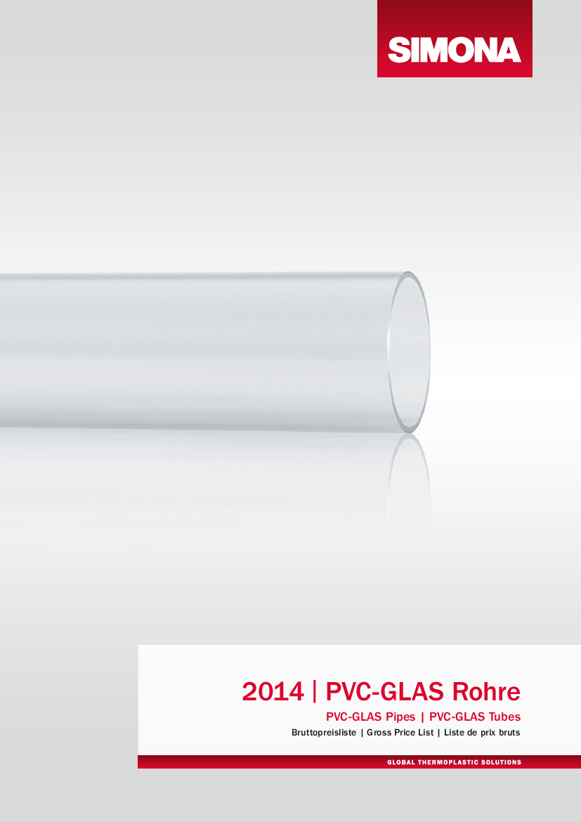 Downloadcenter Simona Ag Expertise In Presenting High Quality Electrical Pipes These Gross Price List Pvc Glas Brochures